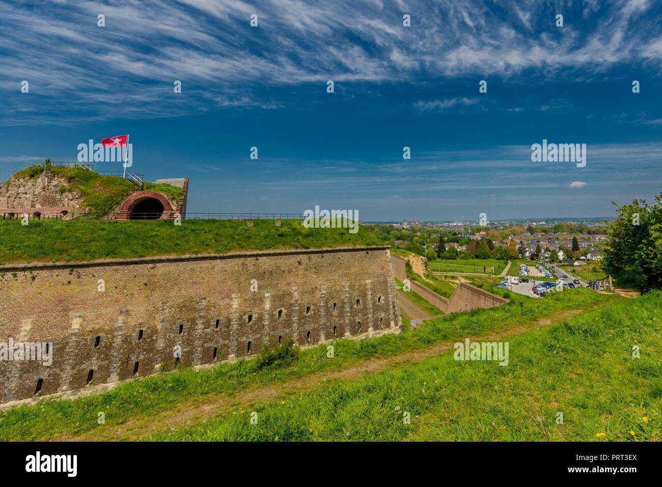 beautiful view of Fort St. Pieter in Maastricht South Limburg the Netherlands Holland - Stock Image