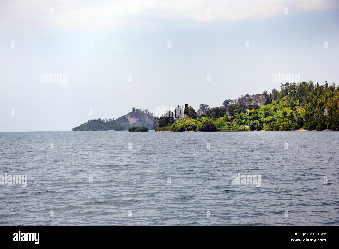 Scenic Lake Kivu in Rwanda. - Stock Image