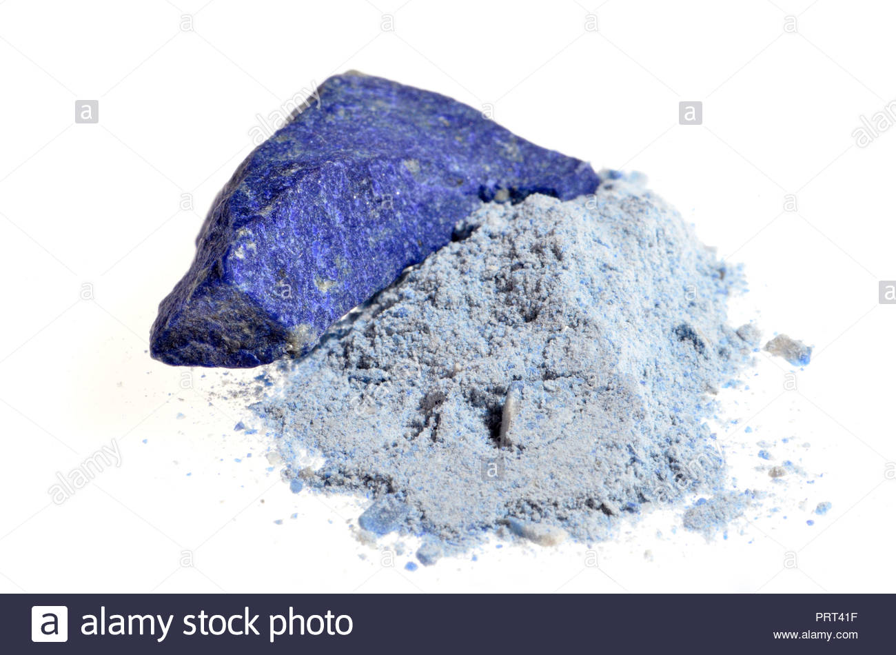 Lapis Lazuli - powdered form used in production of blue pigments - Stock Image