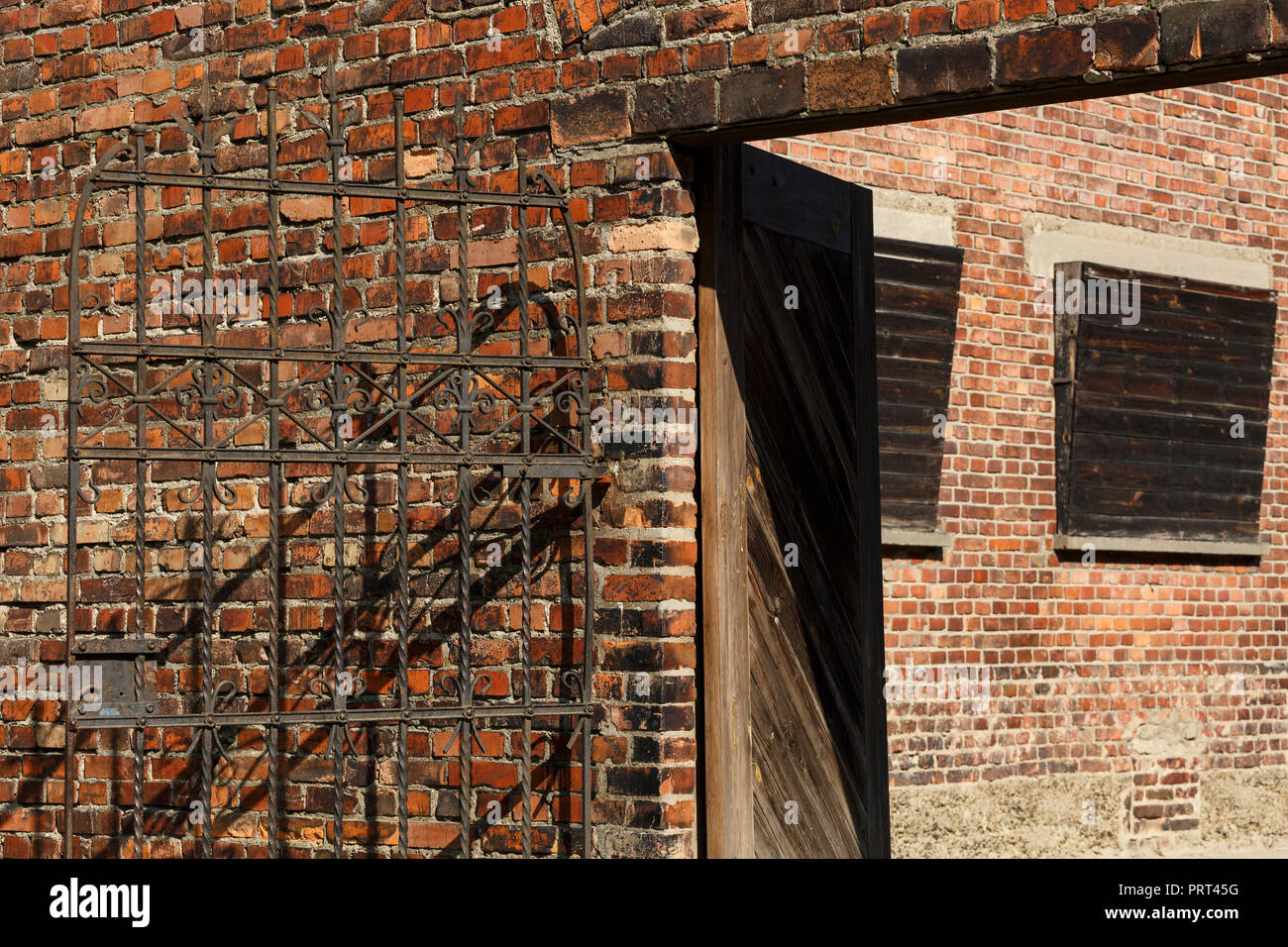 Oswiecim, Poland - August 22, 2018: Place of executions in former German Nazi Concentration and Extermination Camp Auschwitz-Birkenau. - Stock Image