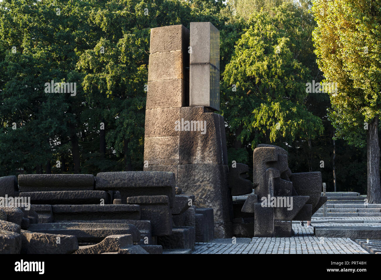 Oswiecim, Poland - August 22, 2018: Memorial and Museum Auschwitz-Birkenau, former German Nazi Concentration and Extermination Camp. - Stock Image