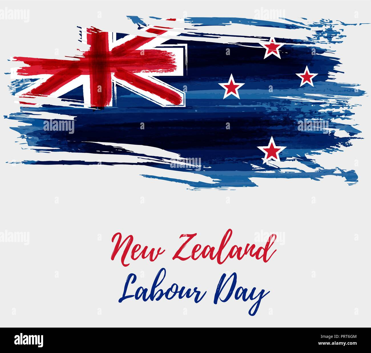 New Zealand Labour Day Holiday Background Abstract Painted Grunge