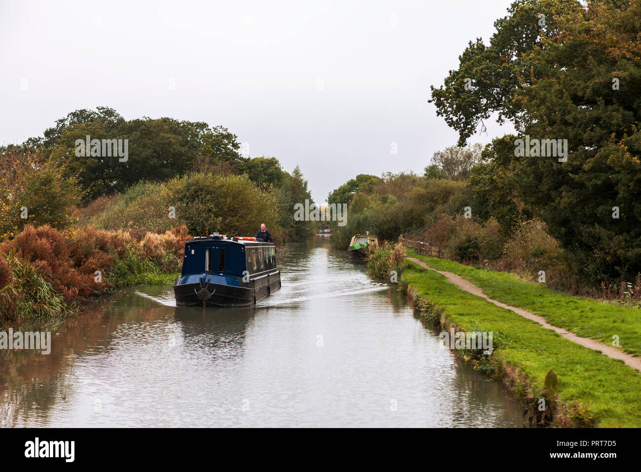 The Grand Union Canal just west of Braunston, Northamptonshire, England, UK - Stock Image