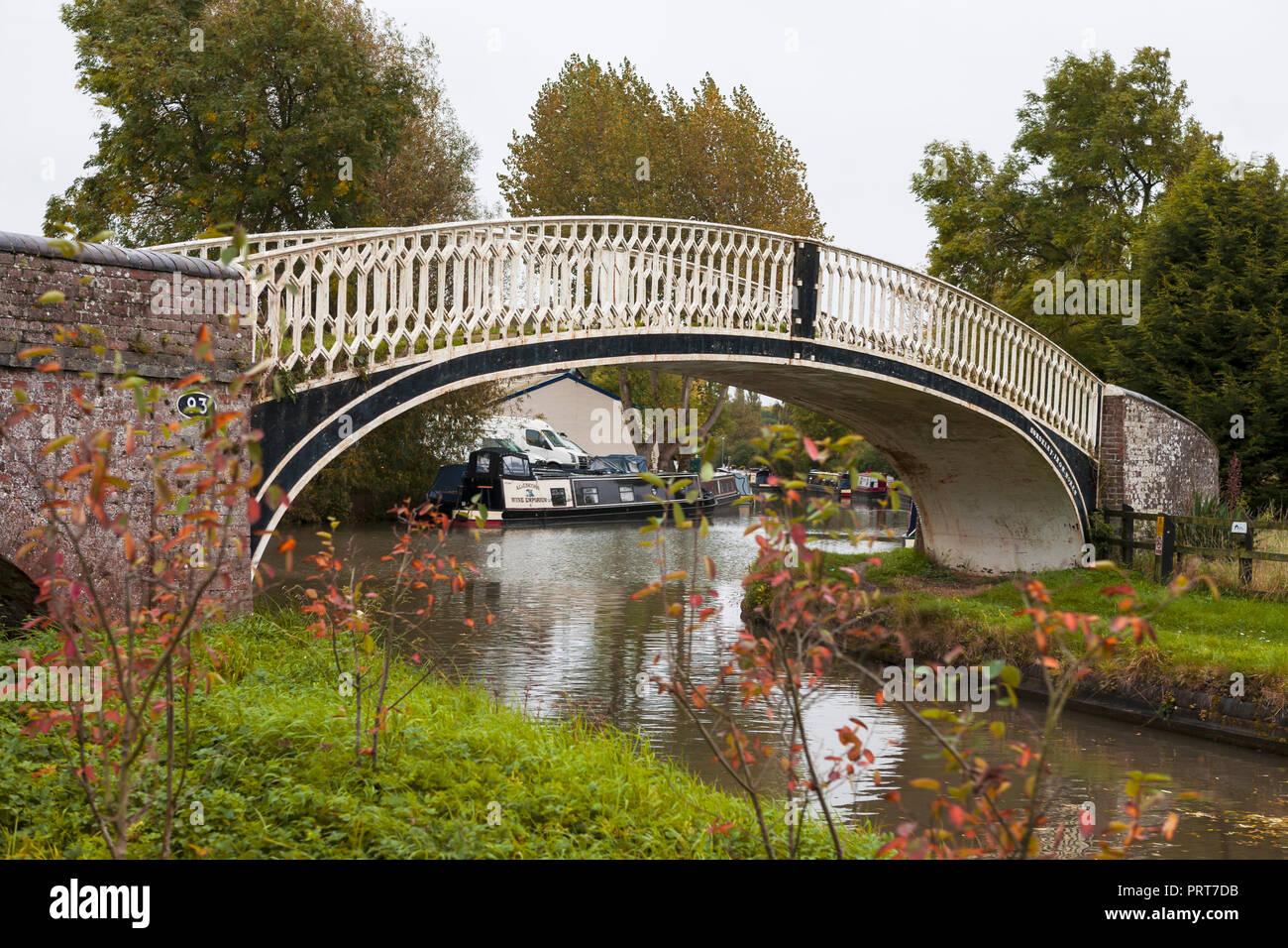 One of the bridges at Braunston Turn, Braunston, Northamptonshire, England, UK - Stock Image