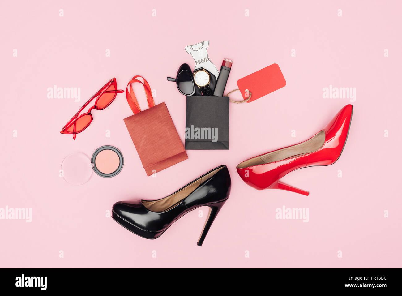 d7a4847ada3 Pink Shoes High Heels Stock Photos & Pink Shoes High Heels Stock ...