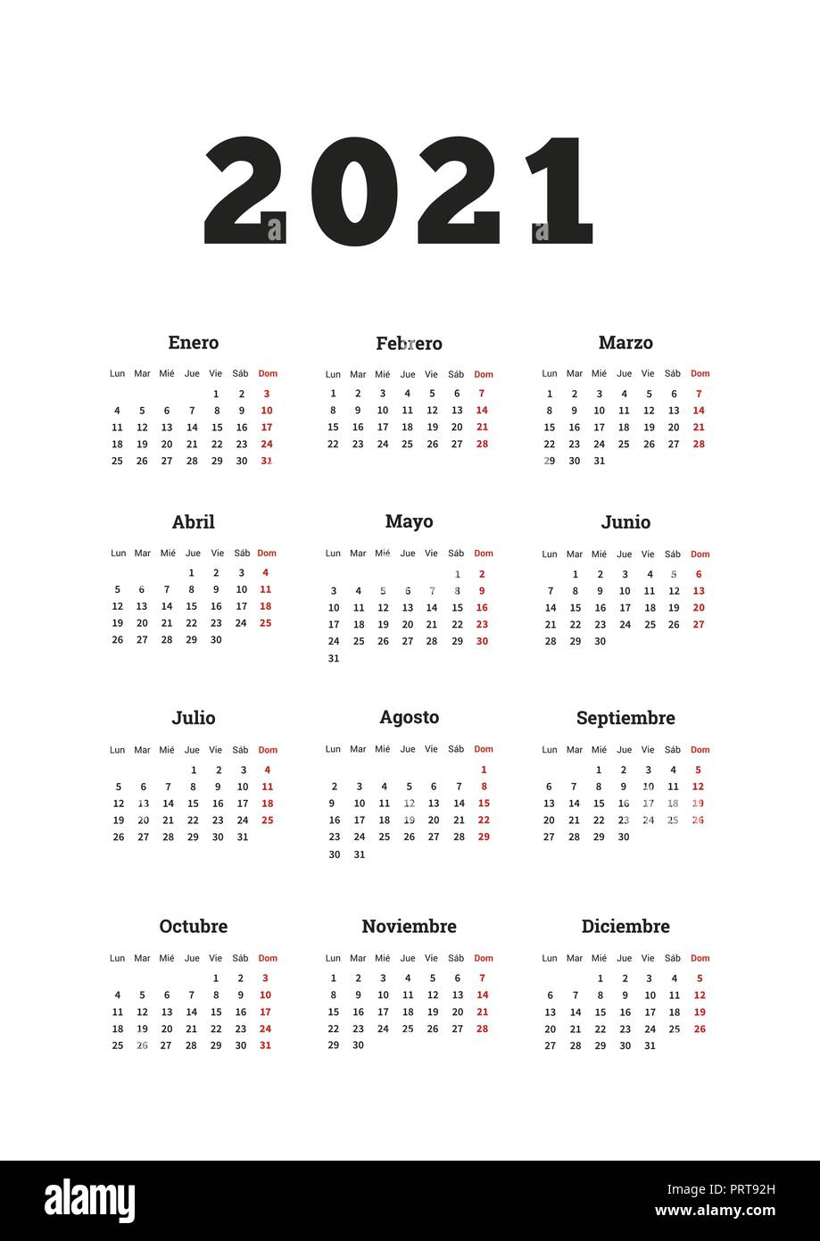 May Month In Spanish Calendar High Resolution Stock Photography