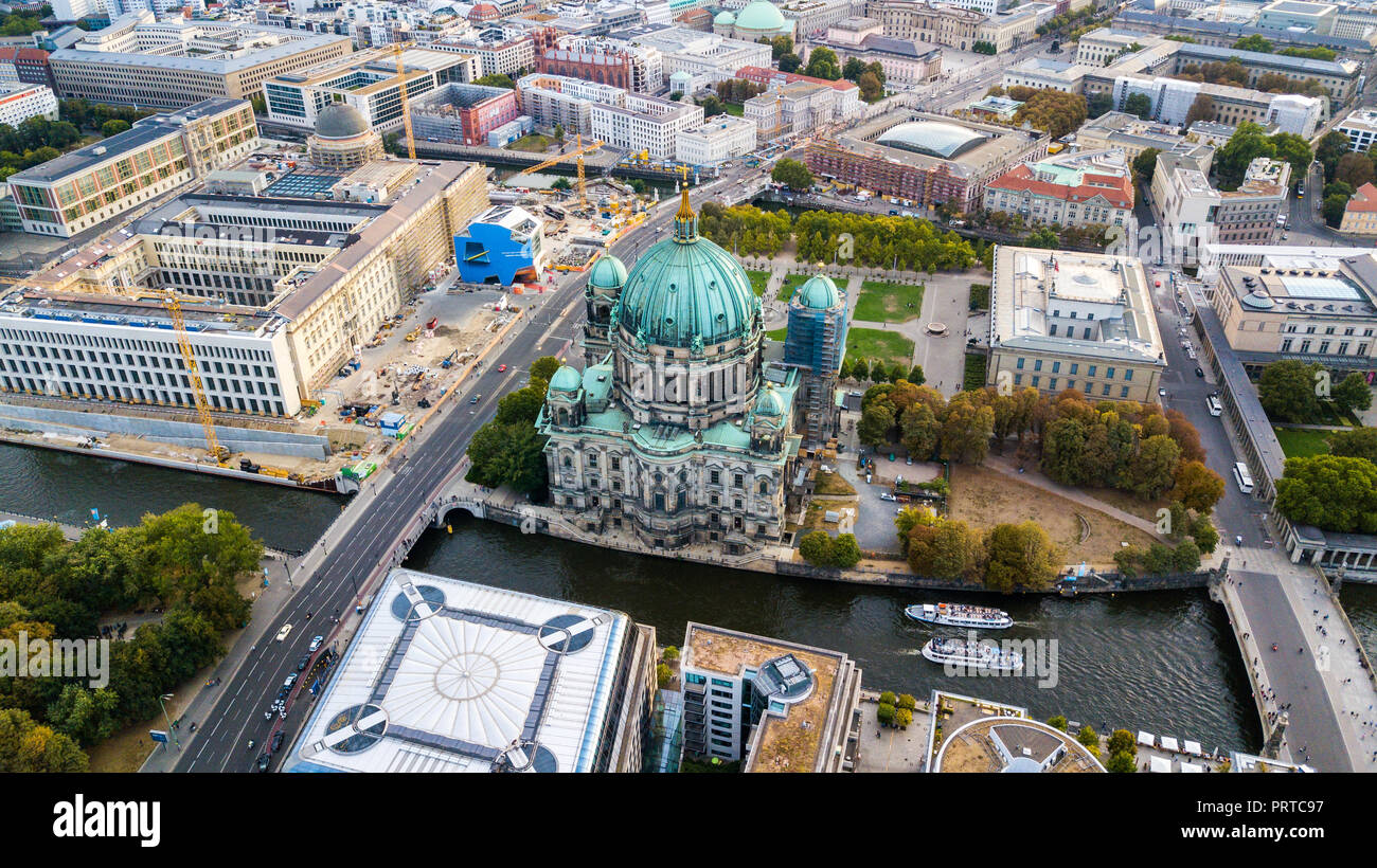 Berlin Cathedral Church or Berliner Dom, Berlin, Germany, - Stock Image