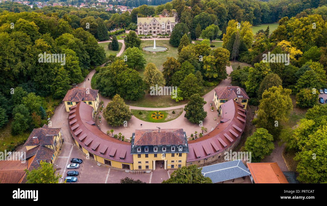 Schloss Altenstein or Altenstein Palace, near Eisenach, Thuringia, Germany - Stock Image