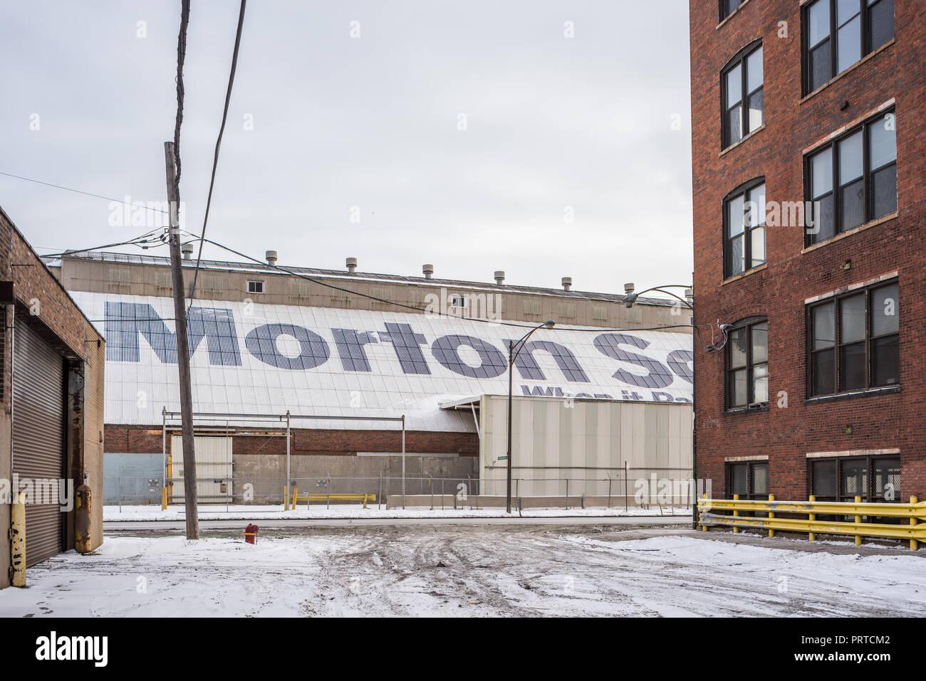 Morton Salt warehouse on Goose Island Stock Photo: 221198322