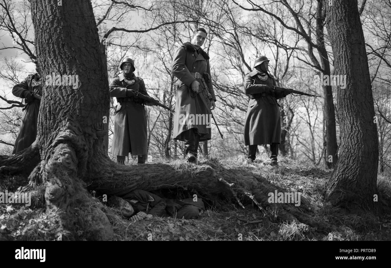 Original film title: DER HAUPTMANN. English title: THE CAPTAIN. Year: 2017. Director: ROBERT SCHWENTKE. Credit: Filmgalerie 451 / Alfama Films / Opus Film / Album - Stock Image