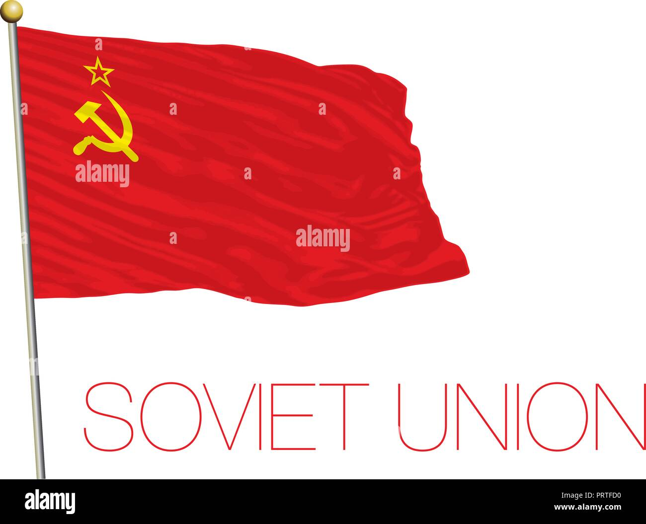 Soviet Union, USSR official and historical flag, vector illustration - Stock Image