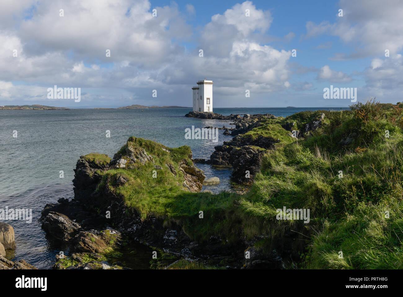 Carriage Fhada Lighthouse Port Ellen on The Isle of Islay Scotland - Stock Image
