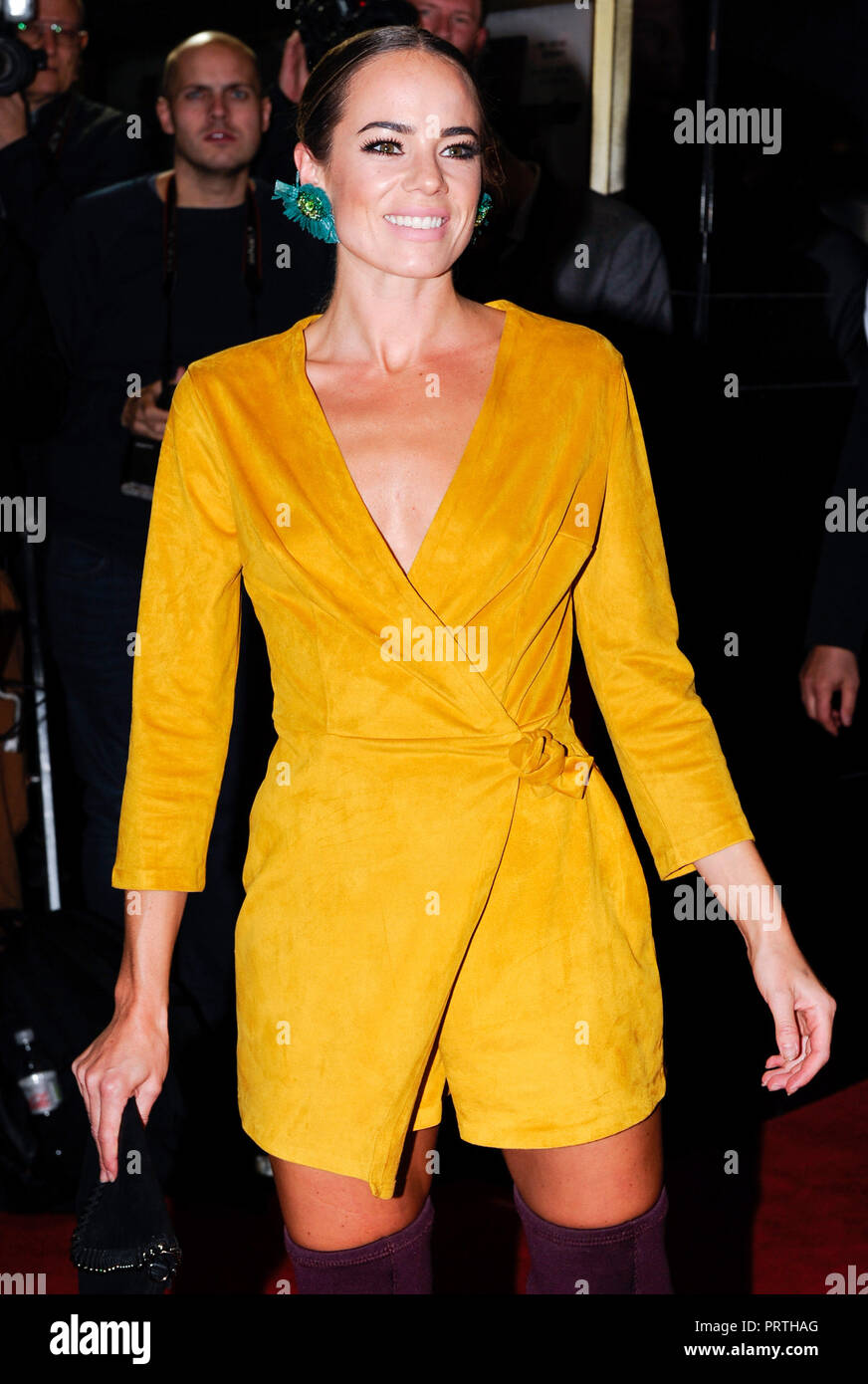 Photo Must Be Credited ©Alpha Press 080011 03/10/2018 Emma Conybeare at a Special Screening of Johnny English Strikes Again held at Curzon Mayfair in London. - Stock Image