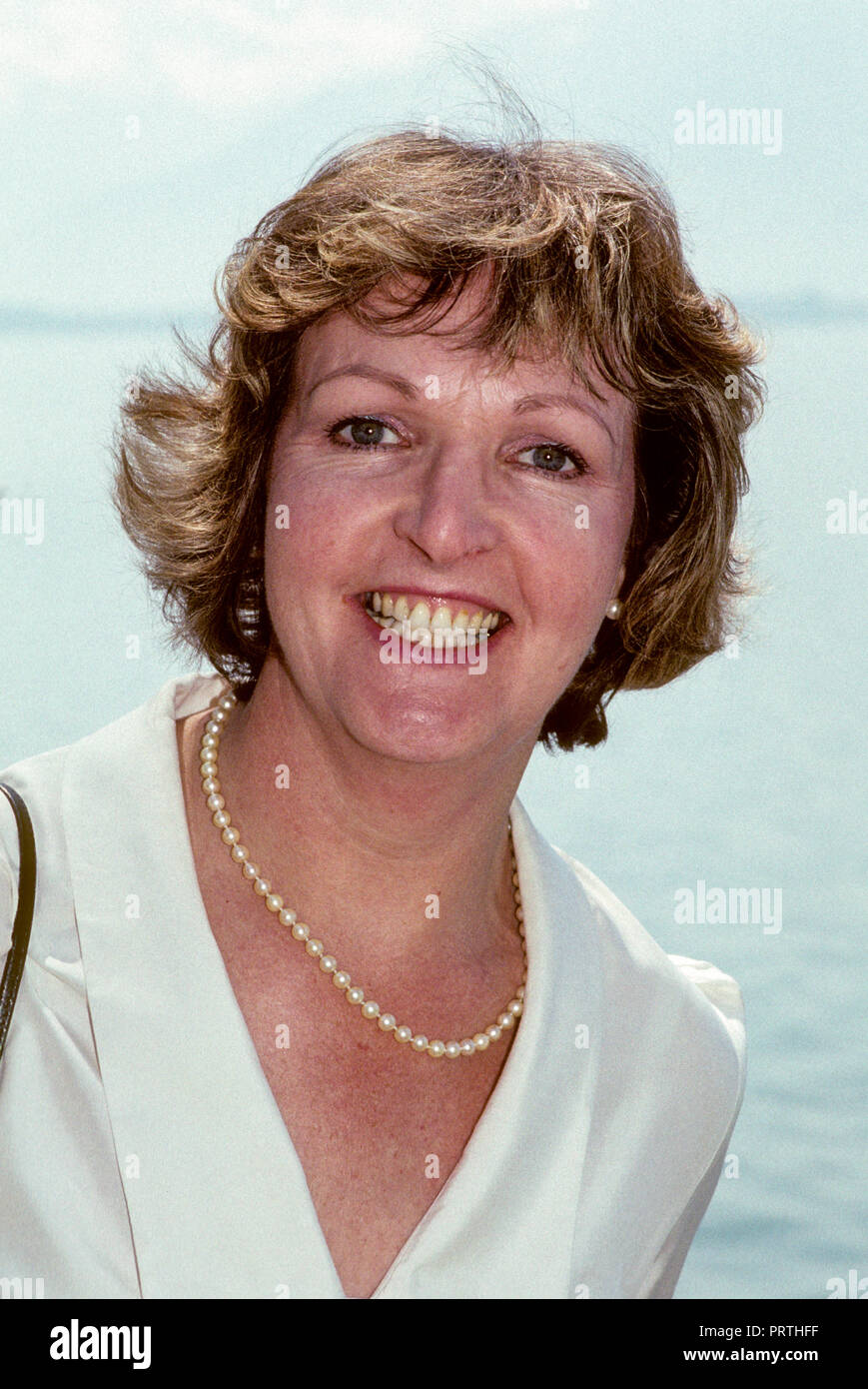 PENELOPE KEITH British actress television competition in Swiss Montreux - Stock Image