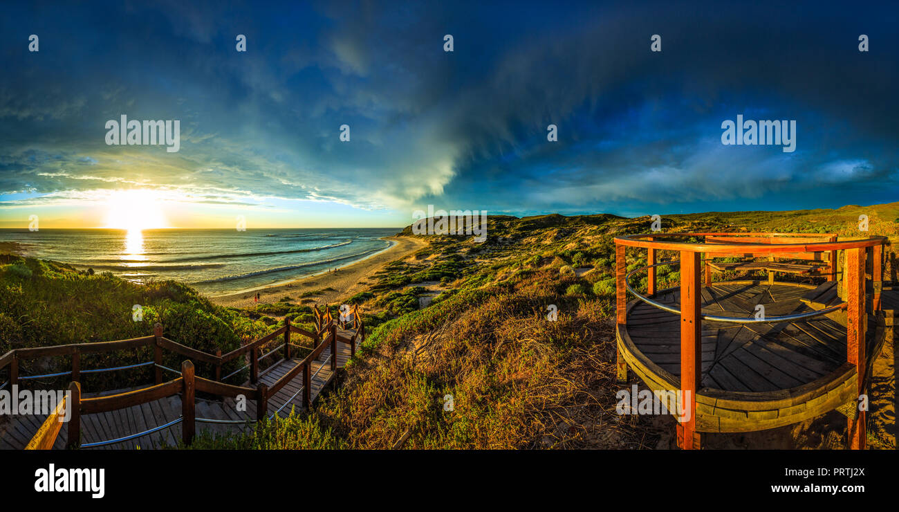 Storm Clouds Over Gas Bay - Stock Image