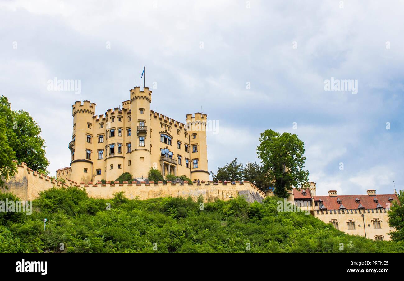 Schwangau, Germany - 05/12/2018: Hohenschwangau Castle - Stock Image
