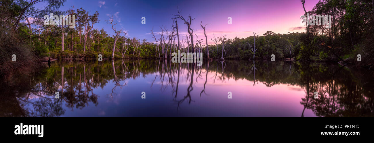Reflections On The Margaret River - Stock Image