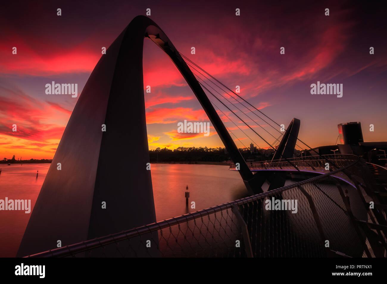 Elizabeth Quay, Perth Foreshore - Stock Image