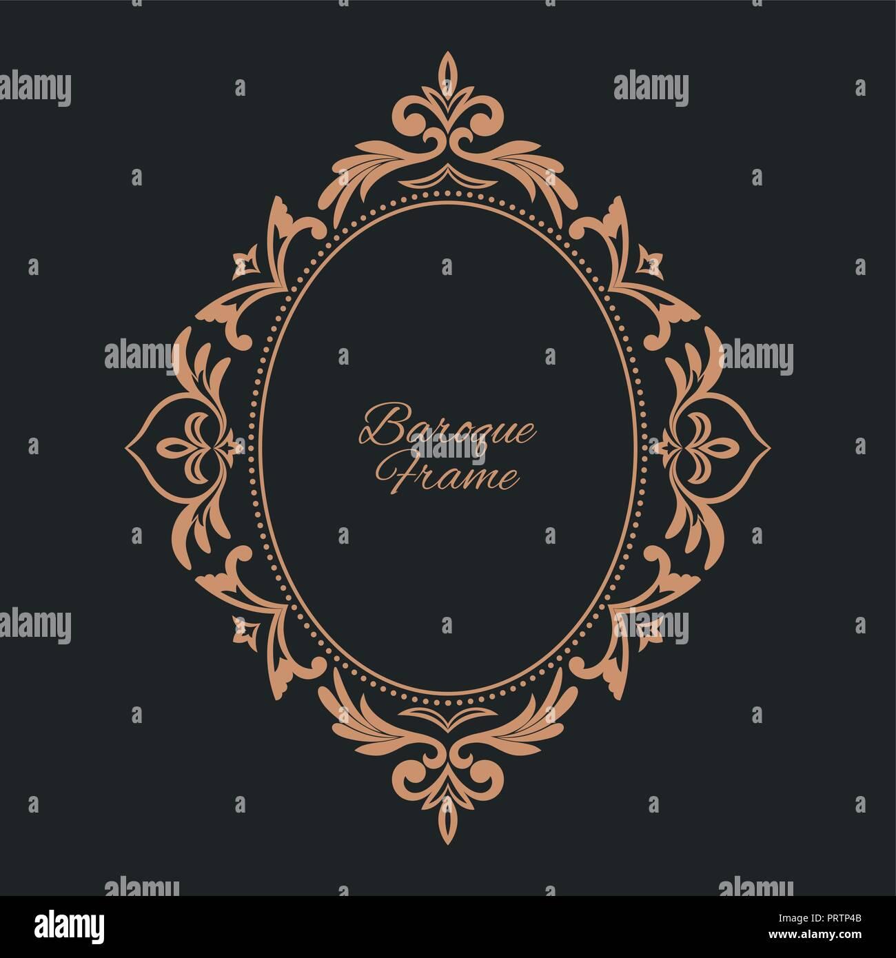 circular pattern round ornament vintage frame greeting card