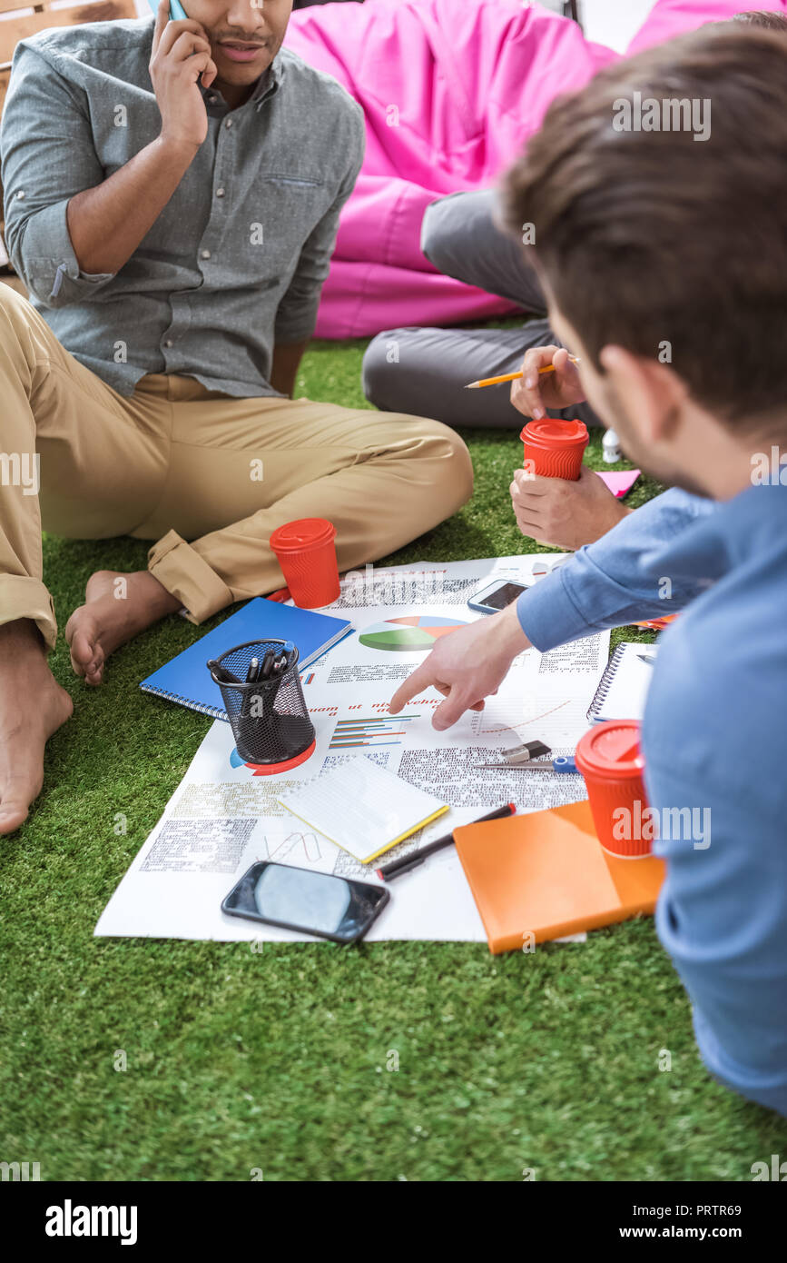 business people working on new business plan at modern office, business teamwork - Stock Image
