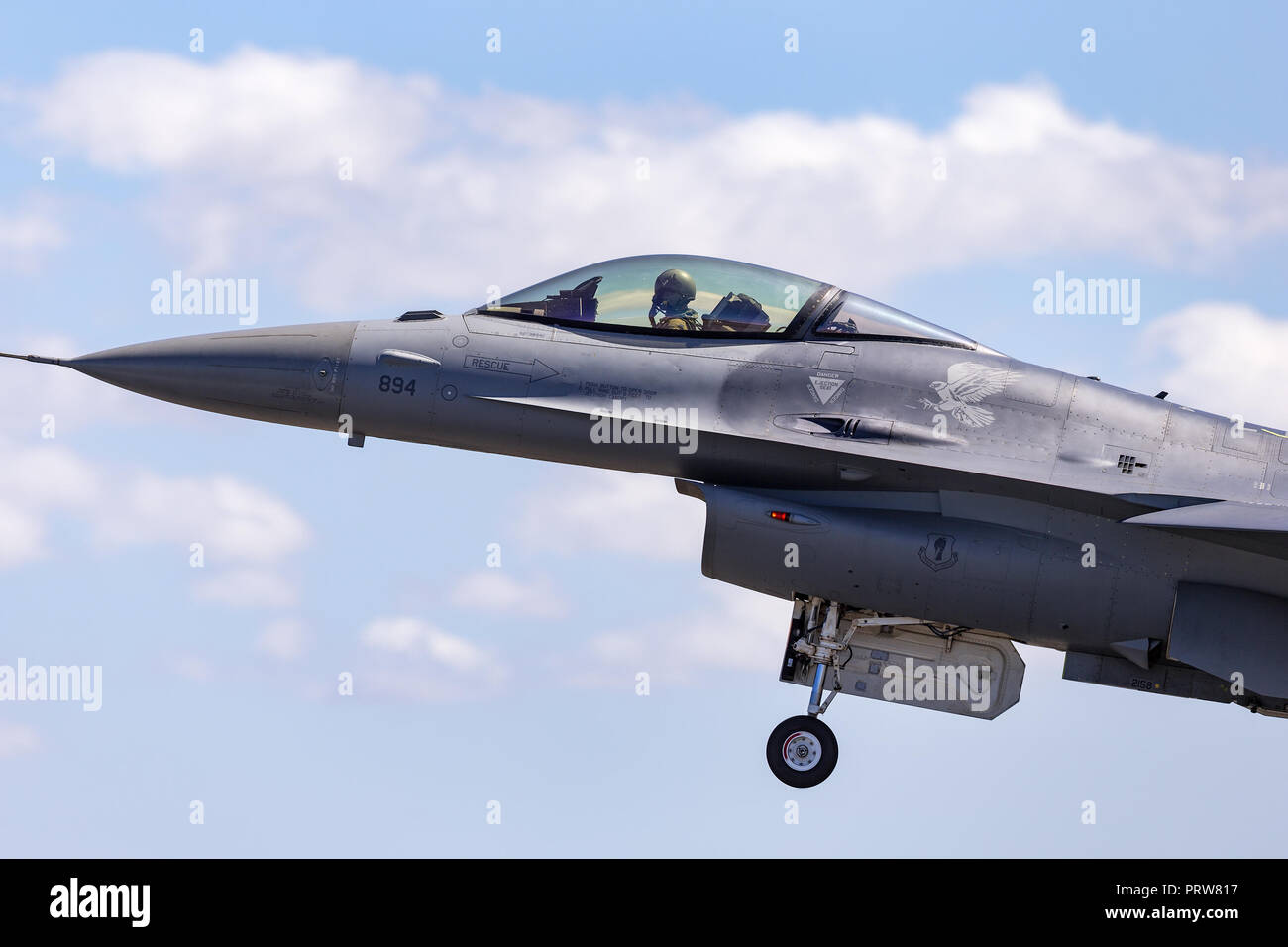 United Staes Air Force (USAF) Lockheed F-16CJ Fighting Falcon 92-3894 from the 14th Fighter Squadron, 35th Fighter Wing at Misawa Air Base, Japan. - Stock Image