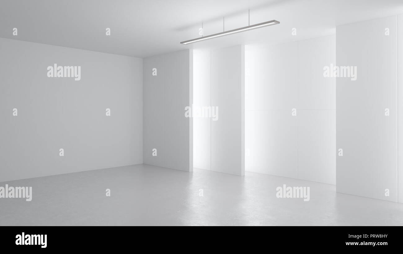 3d rendering minimalist and modern design studio room space