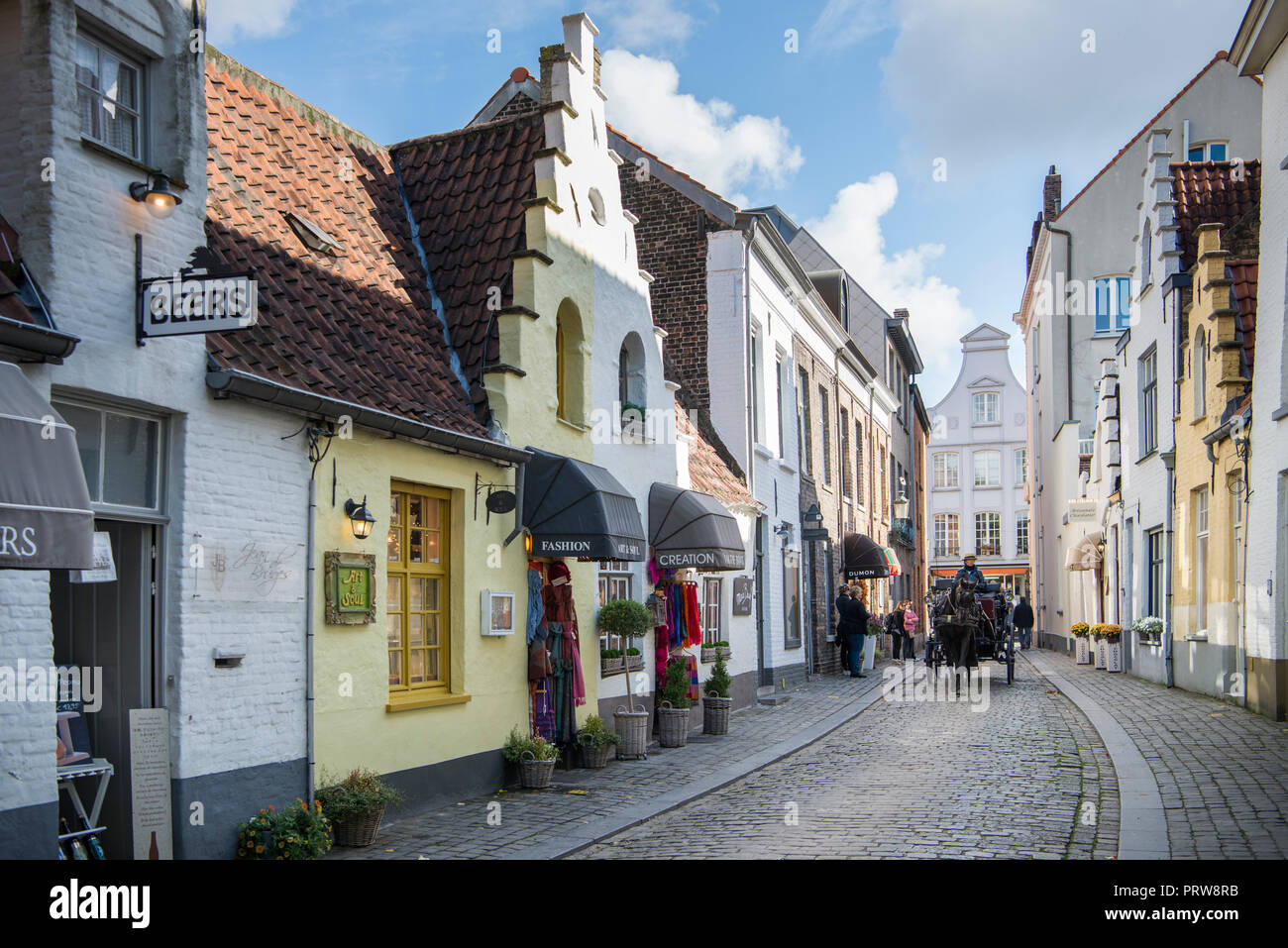 Streets of Brugge - Stock Image