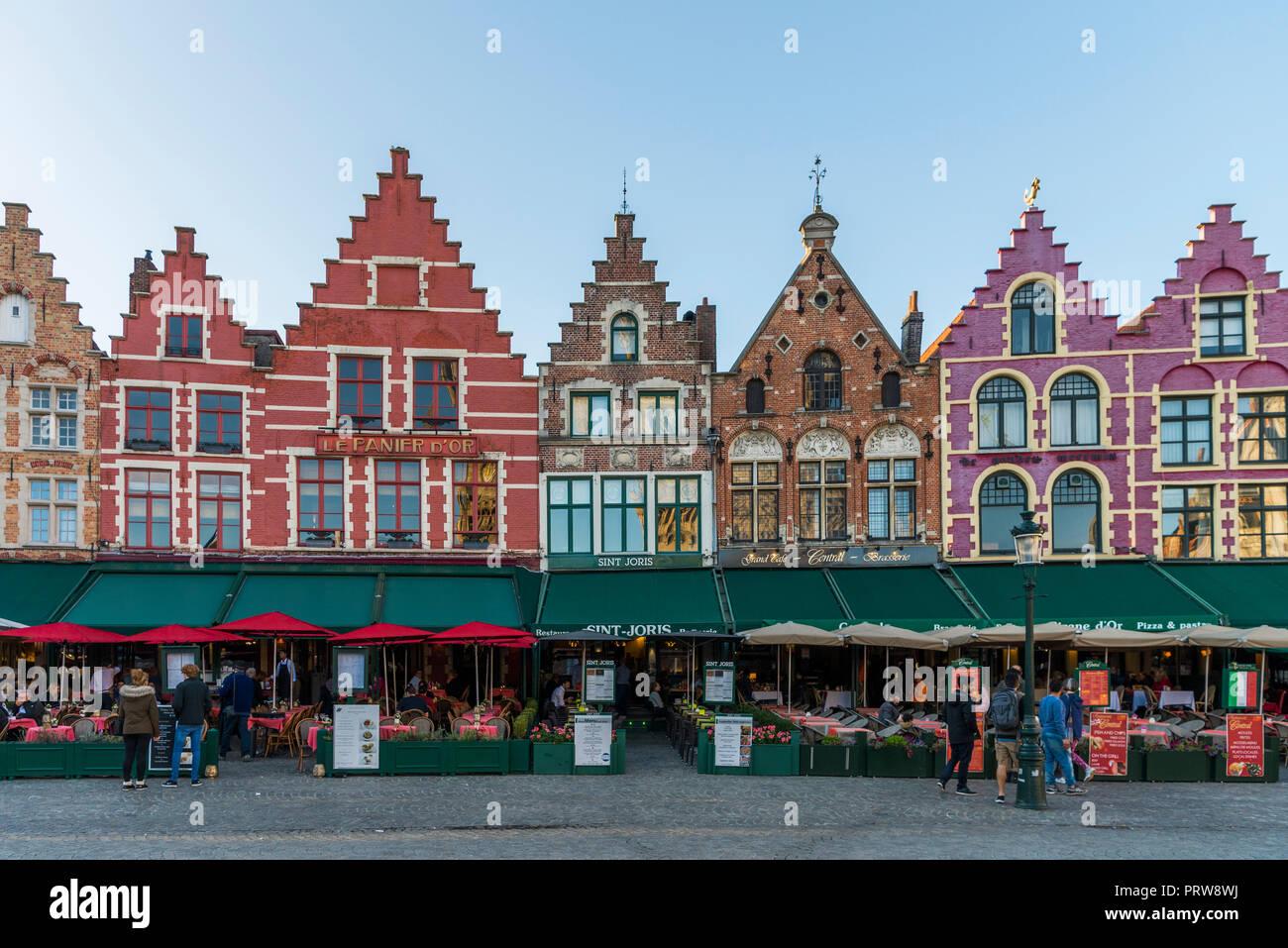 Markt Square of Brugge - Stock Image
