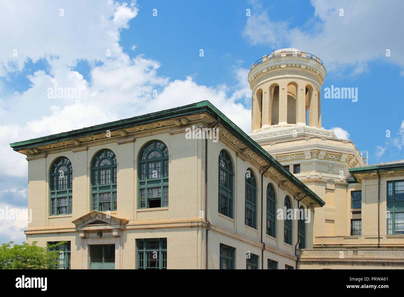 Pittsburgh, Pennsylvania - city in the United States. Old architecture of Carnegie Mellon University. Stock Photo