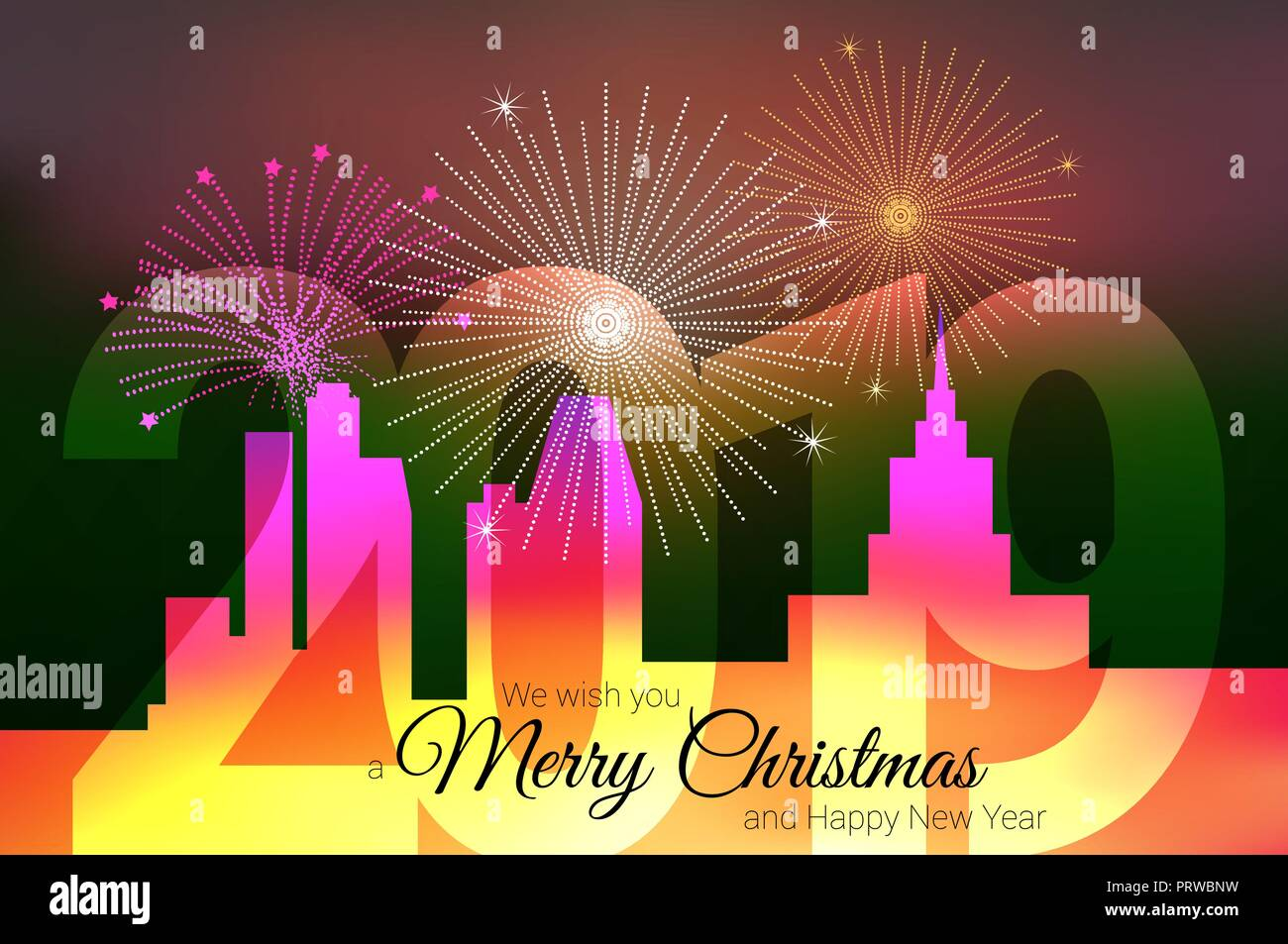 vector christmas greeting card template merry christmas and happy new year design elements resource for creating postcards calendars posters