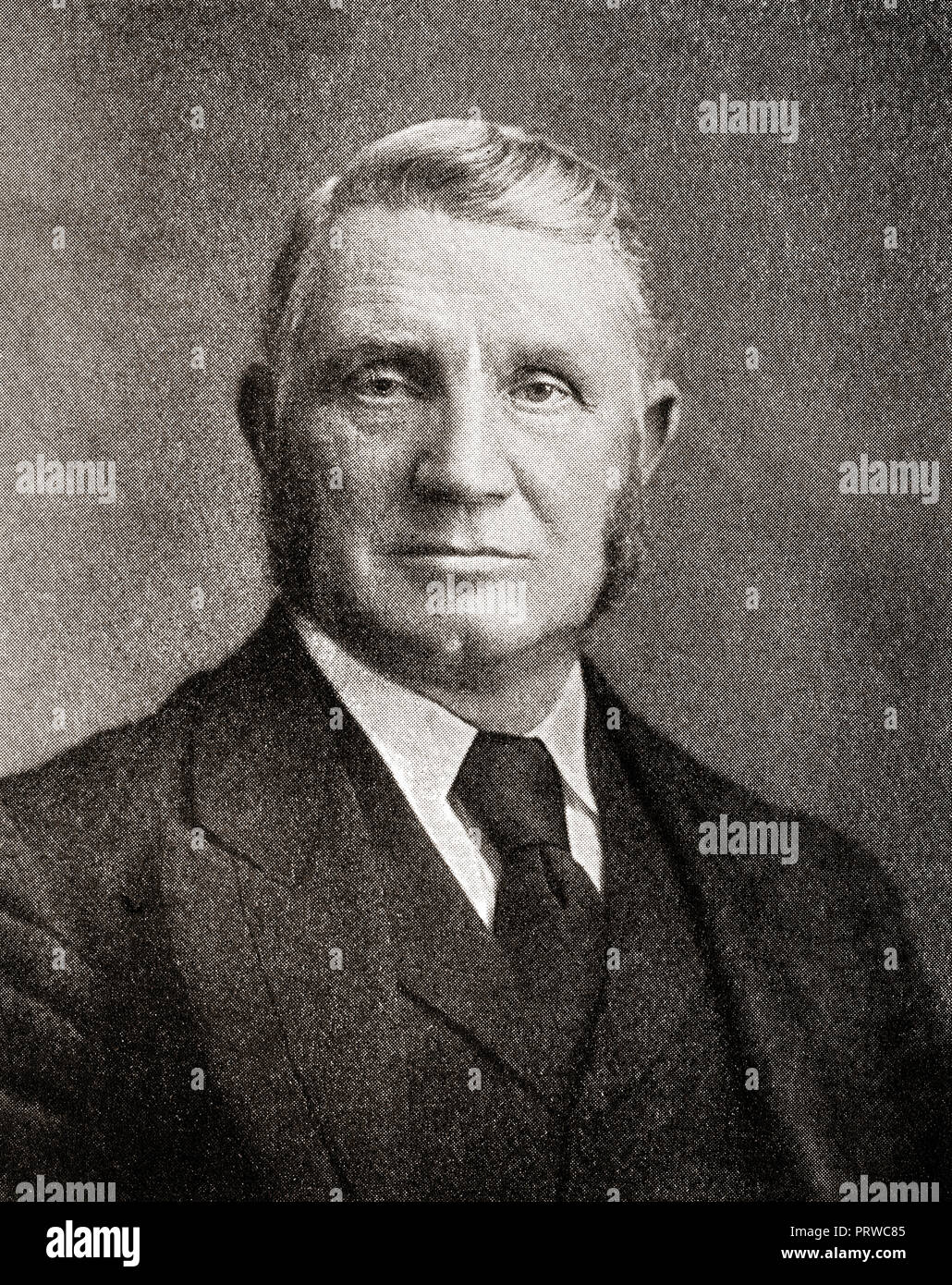 Sir William Arrol, 1839 – 1913.  Scottish civil engineer, bridge builder, and Liberal Unionist Party politician.  From The Business Encyclopedia and Legal Adviser, published 1920. - Stock Image