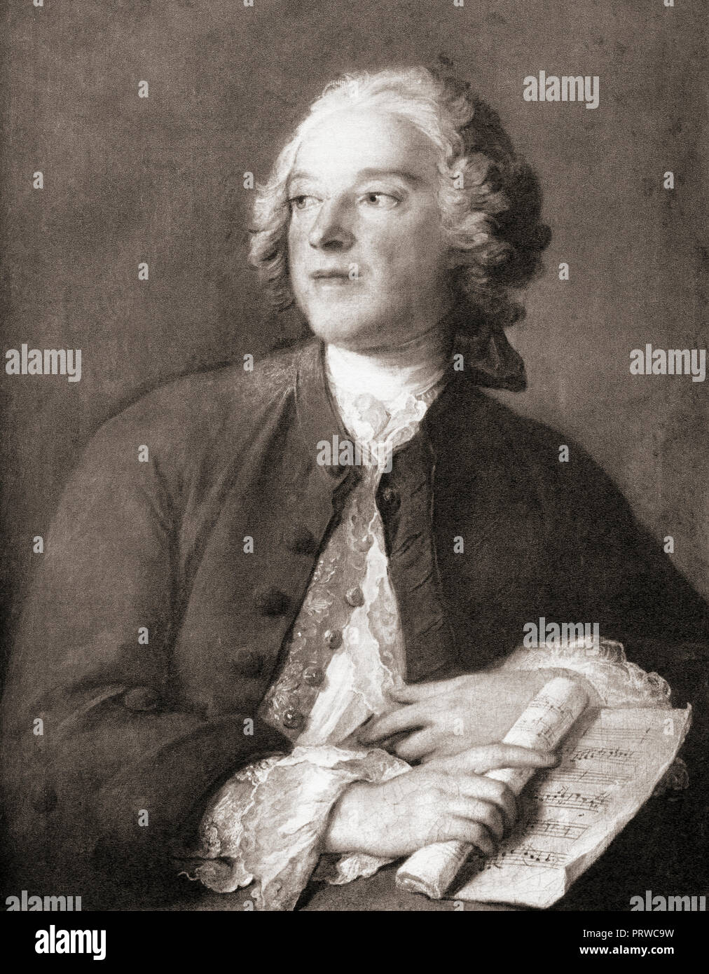 Pierre-Augustin Caron de Beaumarchais, 1732 – 1799.  French watchmaker, inventor, playwright, musician, diplomat, spy, publisher, horticulturist, arms dealer, satirist, financier, and revolutionary. - Stock Image