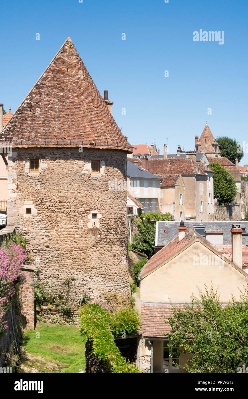The Escharguet tower Avallon, Yonne, Burgundy, France, Europe - Stock Image