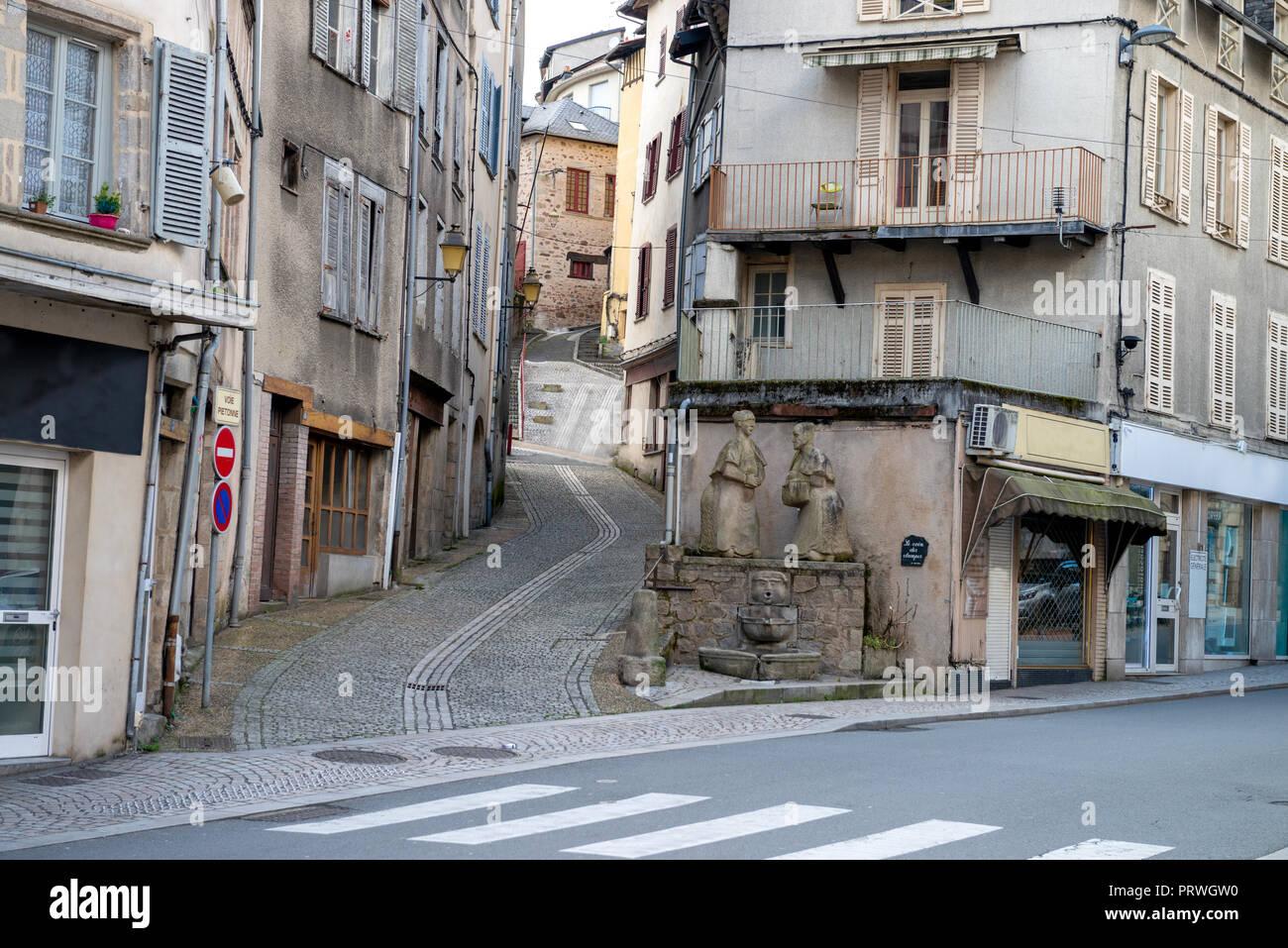 France- TULLE- Correze - Prefecture 2017 - Place Jean Tavé  - Le coin des Clampes Stock Photo