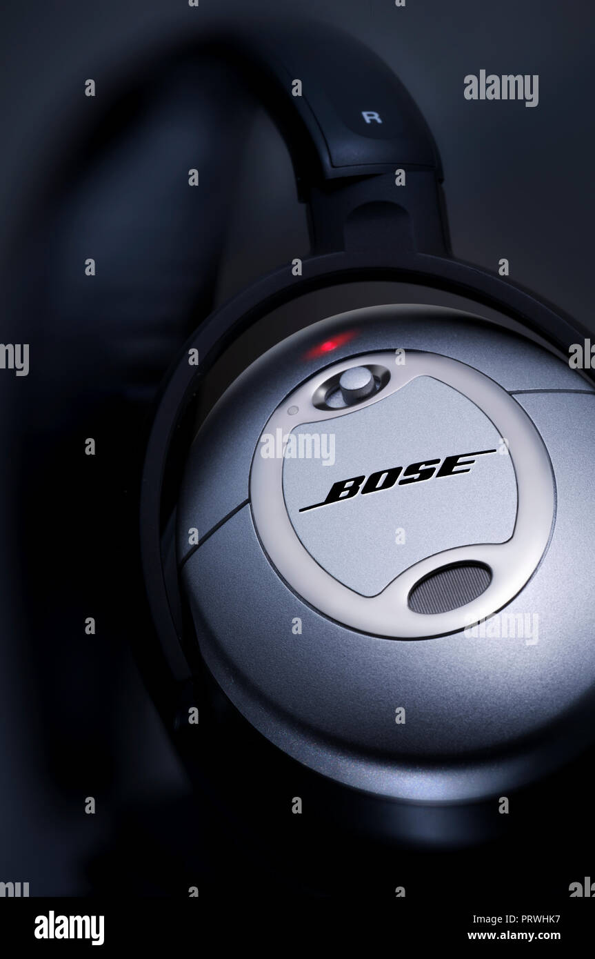 Bose Quiet Comfort 2 On Red LED - Stock Image