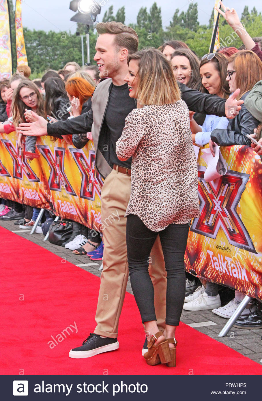 Olly Murs and Caroline Flack at the X Factor auditions at