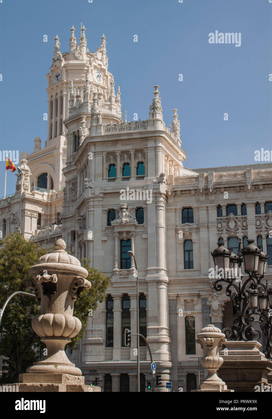 The Cybele Palace Palacio De Cibeles The City Hall Of