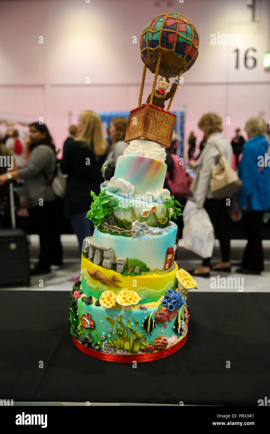 ExCeL London  UK 5 Oct 2018 - The Cake and Bake Show, the UK's