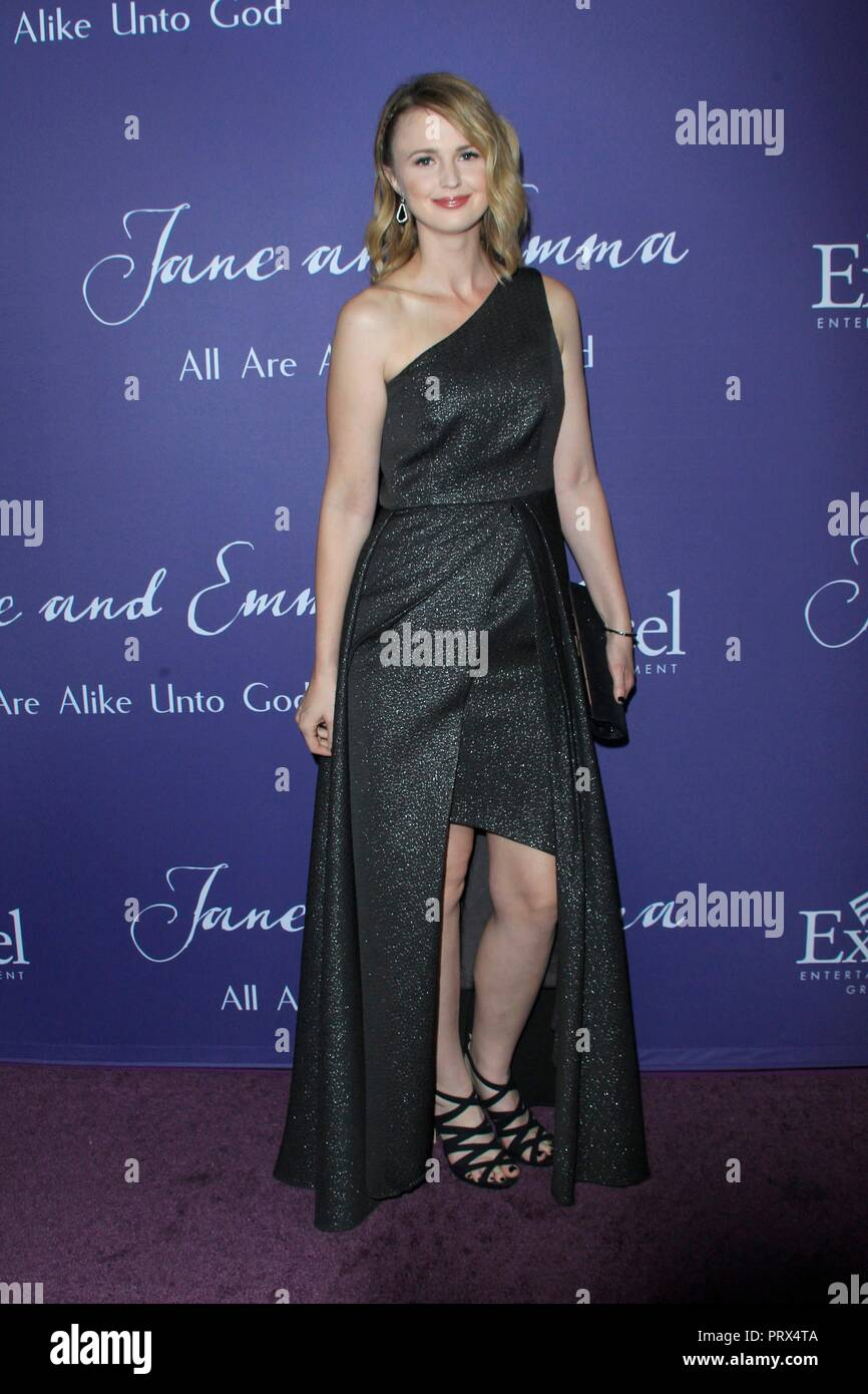 Los Angeles, CA, USA. 4th Oct, 2018. Madeline Jorgensen at arrivals for JANE AND EMMA Premiere, ArcLight Theater, Los Angeles, CA October 4, 2018. Credit: Priscilla Grant/Everett Collection/Alamy Live News - Stock Image