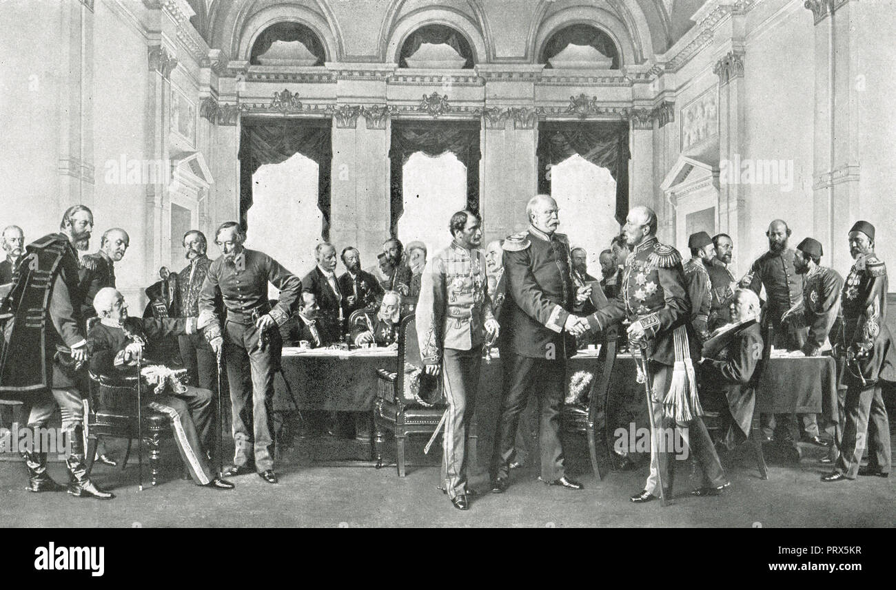The Congress of Berlin, June 1878 - Stock Image