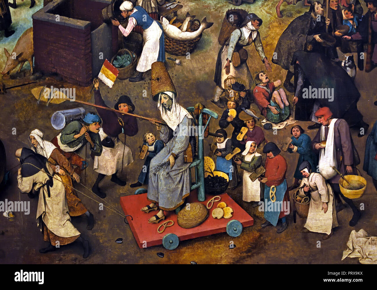 Fight between Carnival and Lent 1559 by Pieter Bruegel (also Brueghel) the  Elder ( 1525-1530 –1569) was the most significant artist of Dutch and  Flemish ...