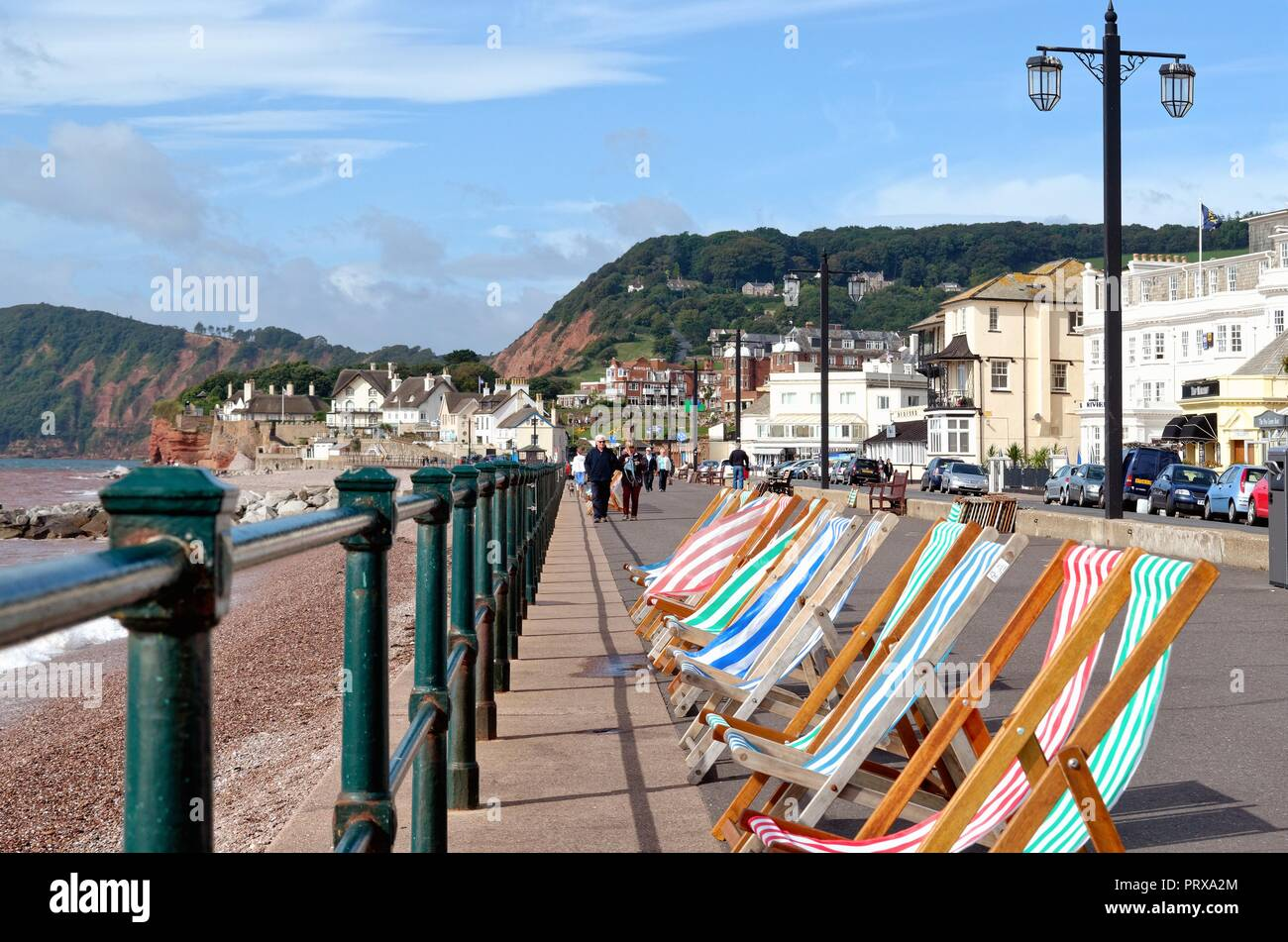 The seafront at Sidmouth on a summer's day east Devon England UK - Stock Image