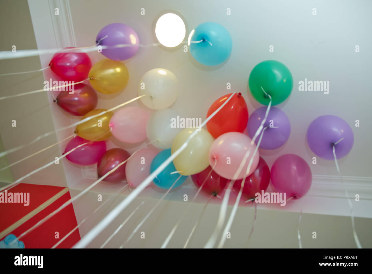 Balloons Floating On The Ceiling Colorfull Balloons Float