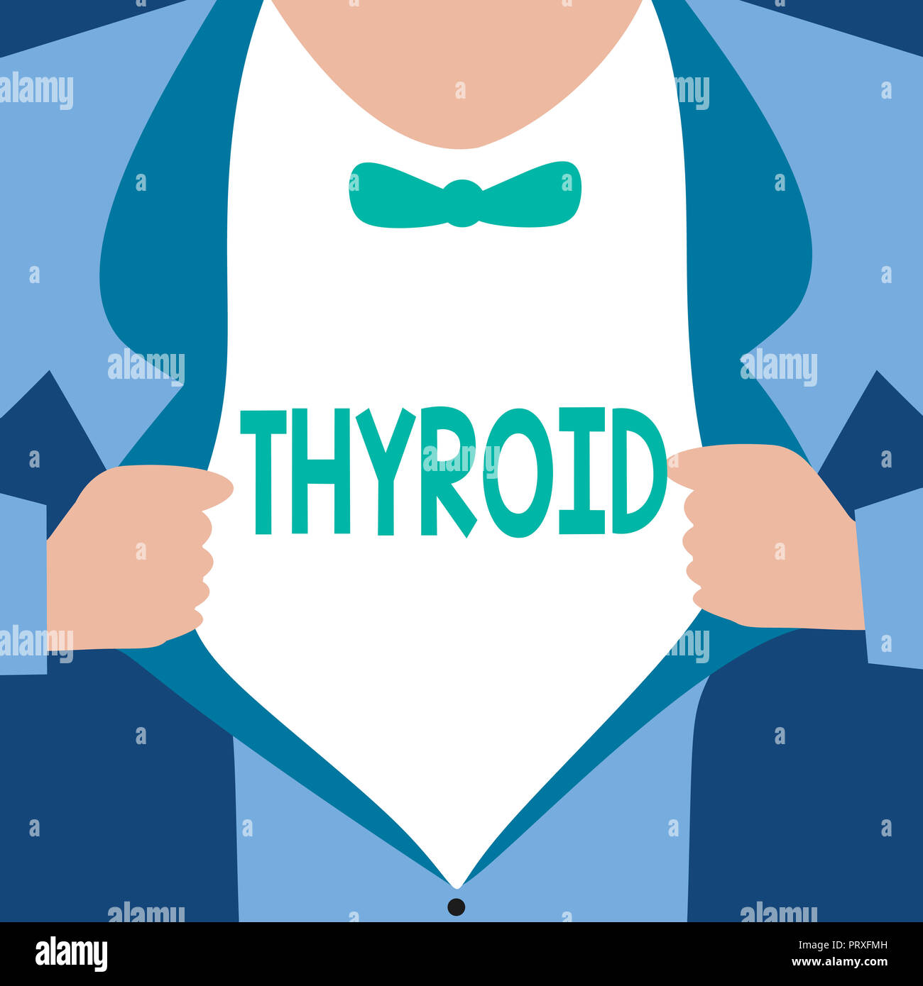 Word Writing Text Thyroid Business Concept For Gland In Neck