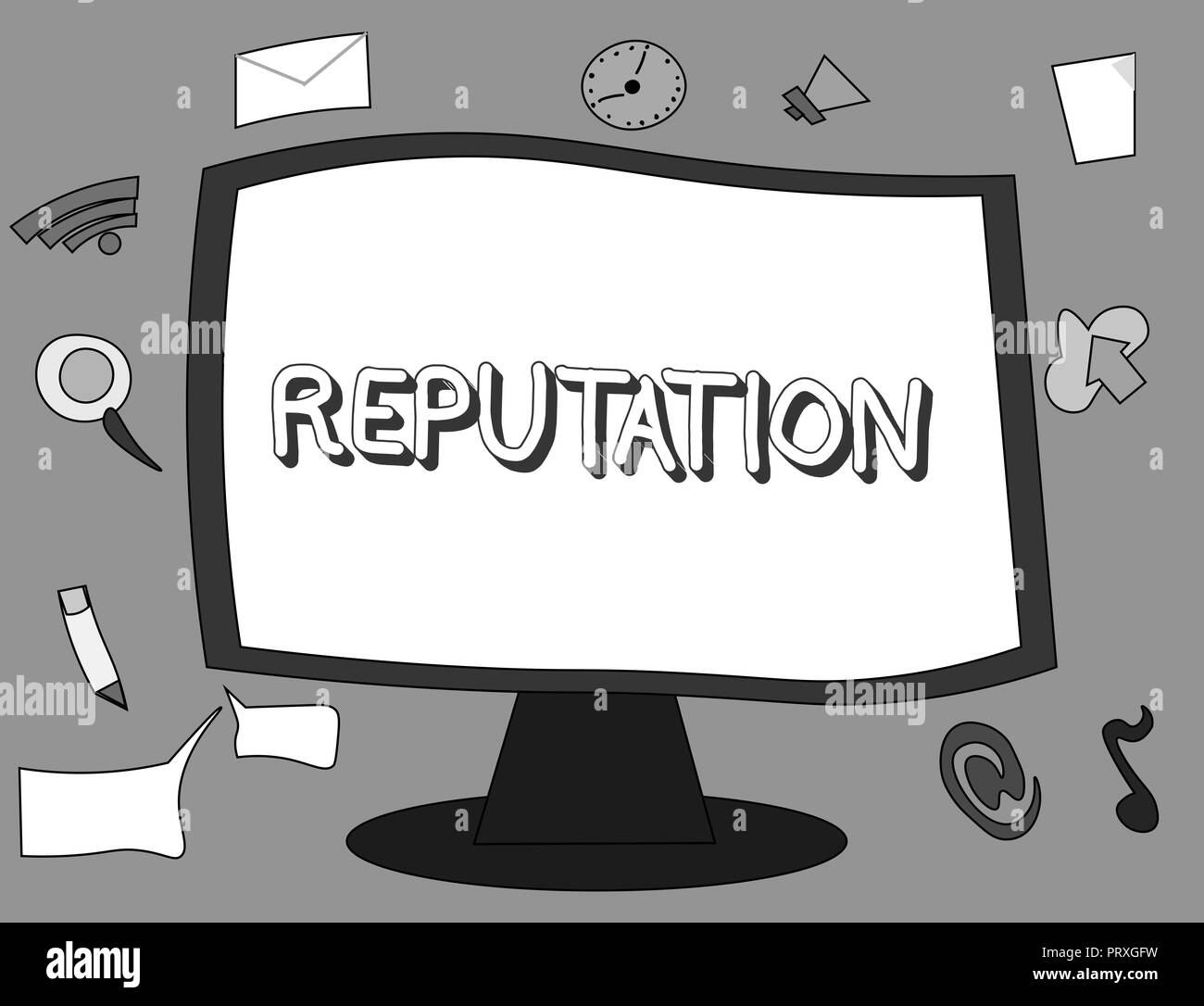 Word writing text Reputation. Business concept for Beliefs Opinions that are generally held about someone something. - Stock Image
