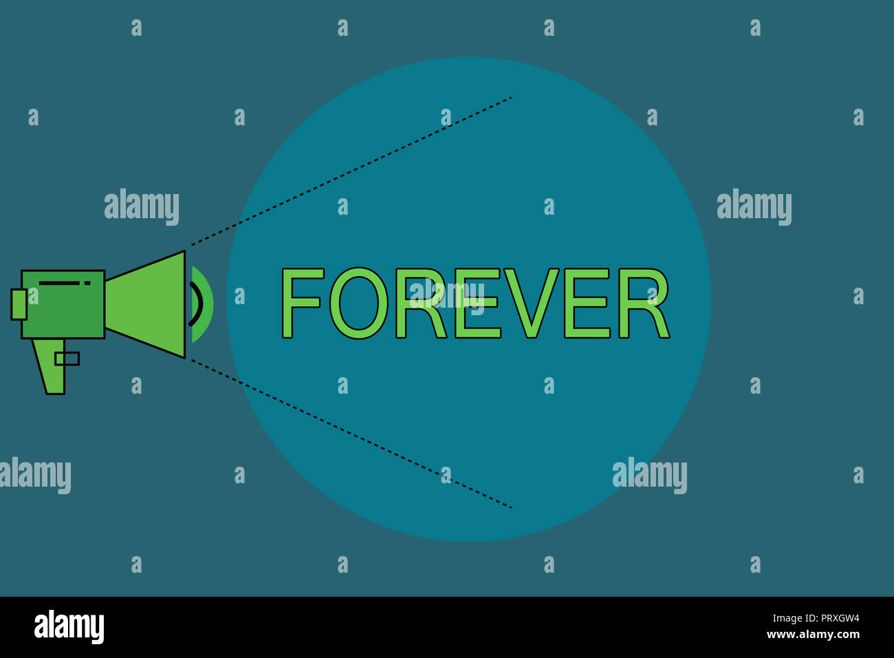Word writing text Forever. Business concept for Everlasting Peranalysisent Always for future time endless Eternal. - Stock Image