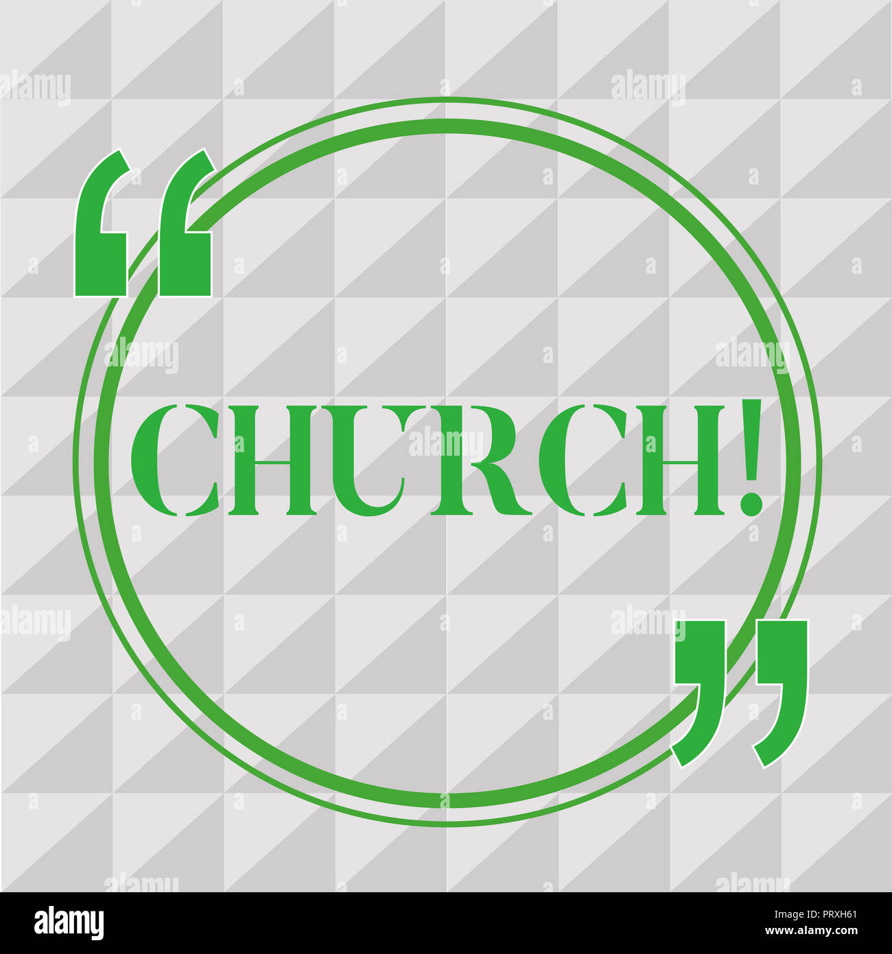 Handwriting Text Writing Church Concept Meaning Building Used For