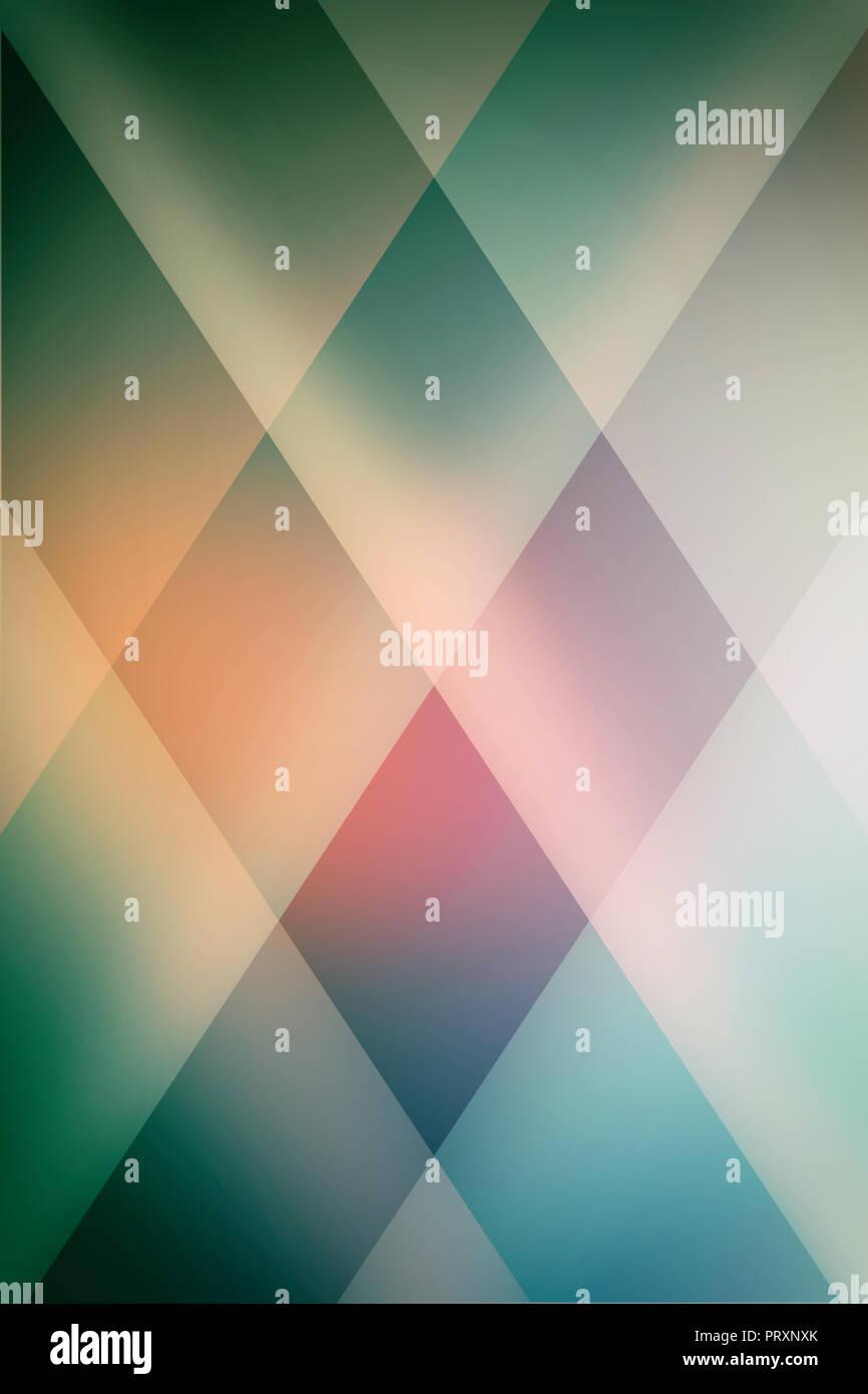. elegant blue green background design with soft block diamond pattern