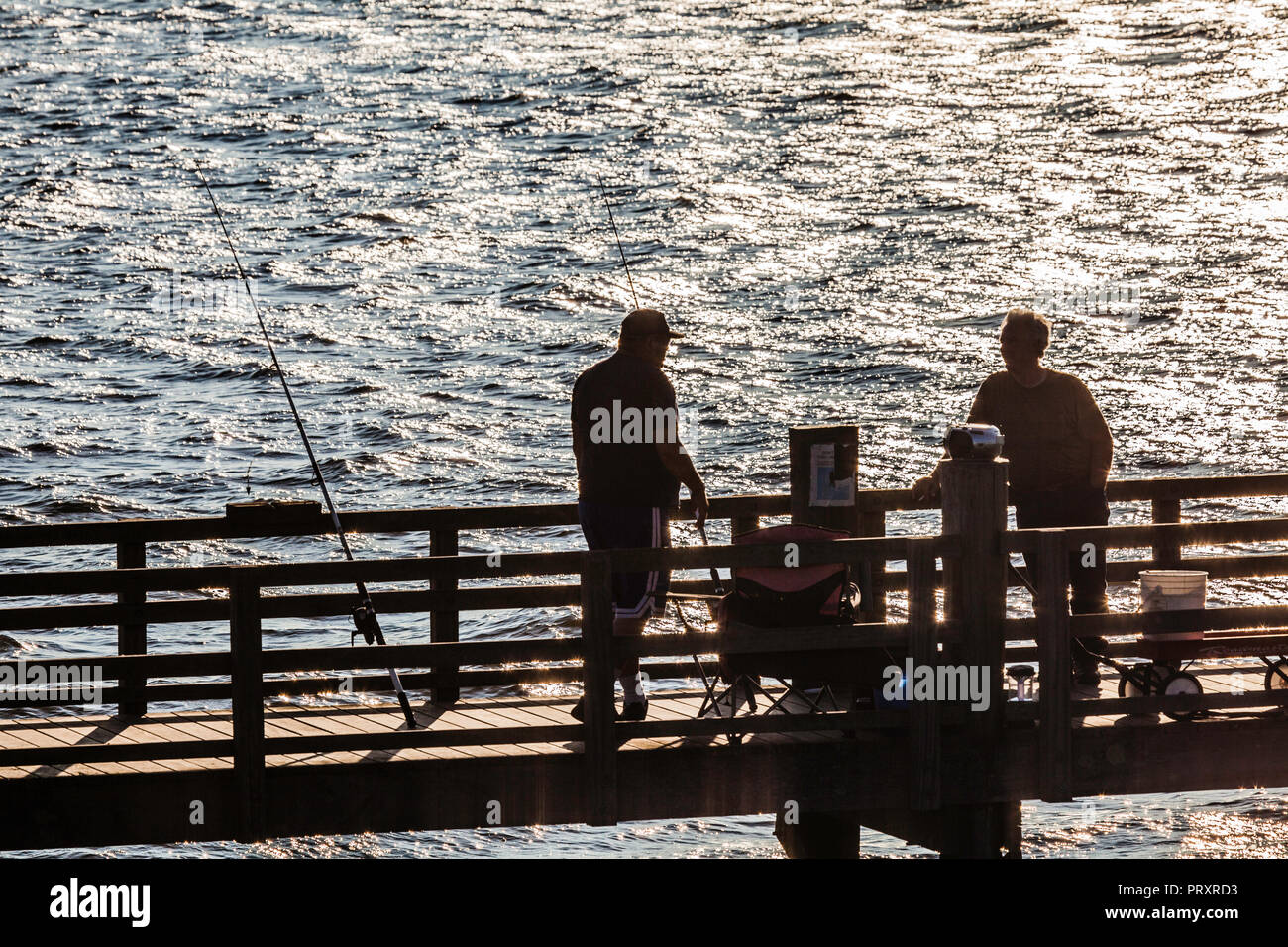 Ferry Landing State Park Fishing Pier _ Old Lyme, Connecticut, USA - Stock Image