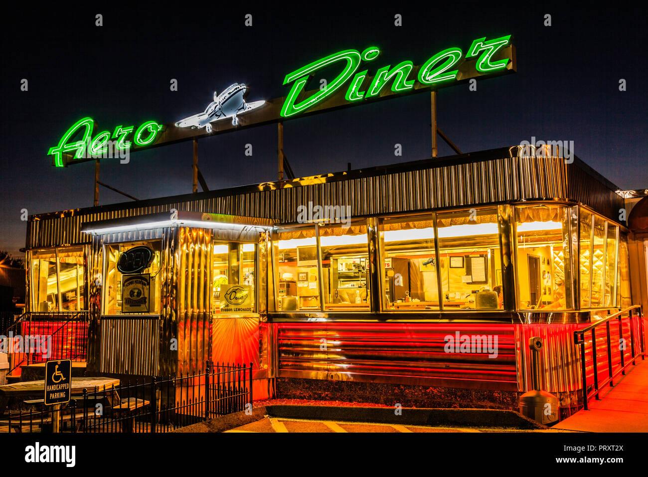 Aero Diner _ North Windham, Connecticut, USA - Stock Image